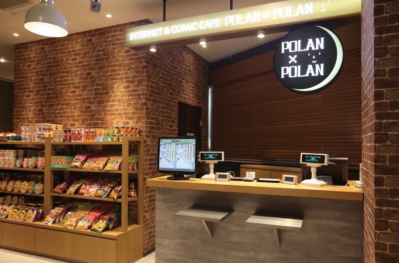 ネットカフェ・漫画喫茶の施工事例:受付(POLAN×POLAN 京王八王子)
