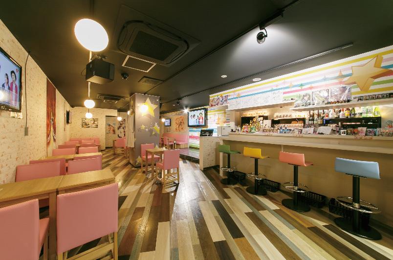 アニソンカフェの施工事例:内装・カウンター(すた〜ず)