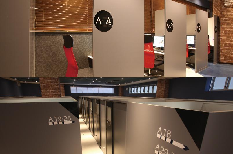 ネットカフェ・漫画喫茶の施工事例:個室スペース(POLAN×POLAN 京王八王子)